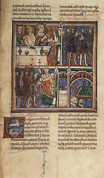 The Murder of Thomas Becket, in John of Salisbury's 'Life of Becket'